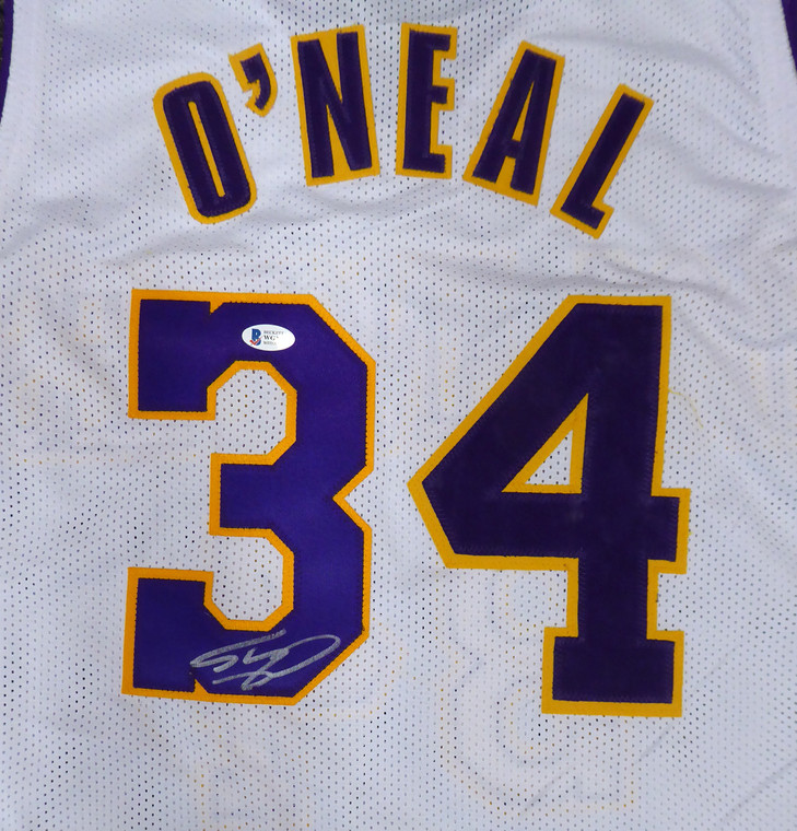 Shaquille O'Neal Los Angeles Lakers Signed White Custom Jersey Signed on #3
