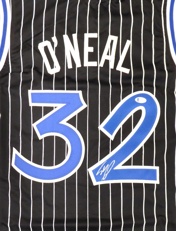 Shaquille O'Neal Orlando Magic Signed Black Custom Jersey Signed on 2