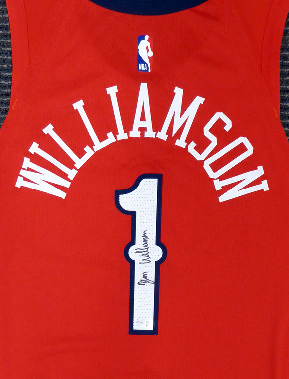 Zion Williamson New Orleans Pelicans Signed Authentic Red Nike Jersey Size 48