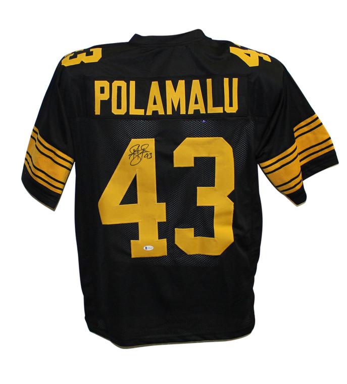 Troy Polamalu Pittsburgh Steelers Signed Pro Style Black XL Jersey