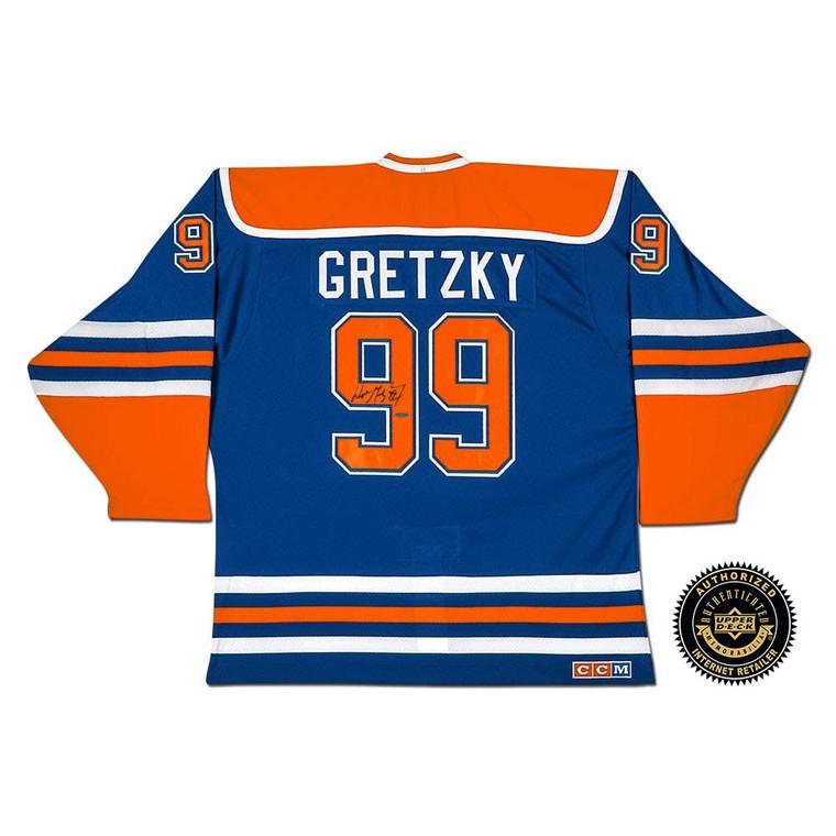 "Wayne Gretzky Autographed Edmonton Oilers ""Heroes of Hockey"" Blue CCM Jersey"