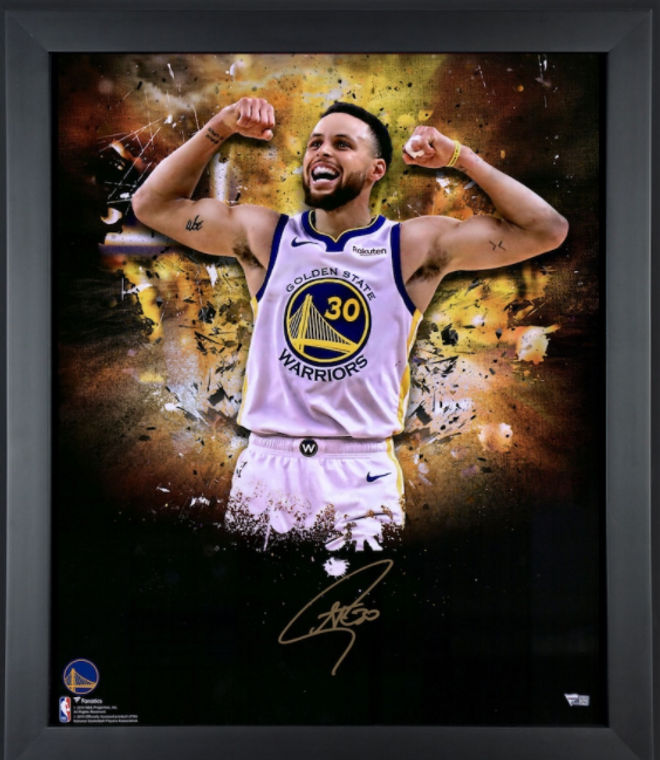 Stephen Curry Golden State Warriors Framed Autographed In-Focus Photograph