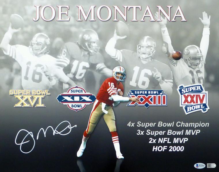 Joe Montana Signed 16x20 Photo San Francisco 49ers