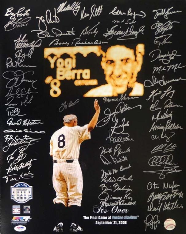 Yankees Team Greats Autographed Photo w/56 Signatures Including Yogi Berra