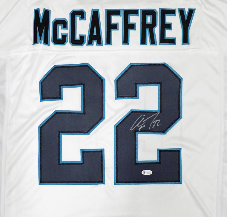 Christian McCaffrey Carolina Panthers Signed White Custom Jersey