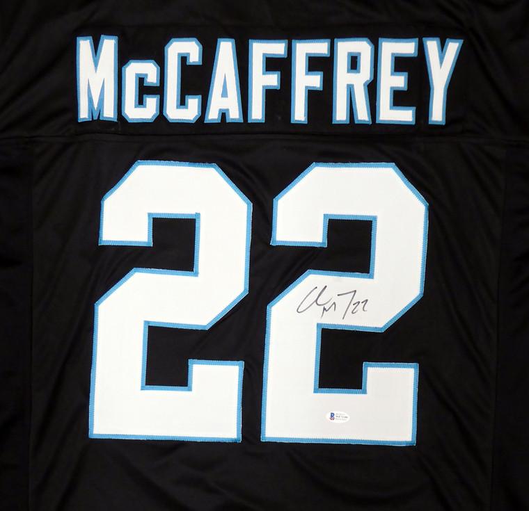 Christian McCaffrey Carolina Panthers Signed Black Custom Jersey