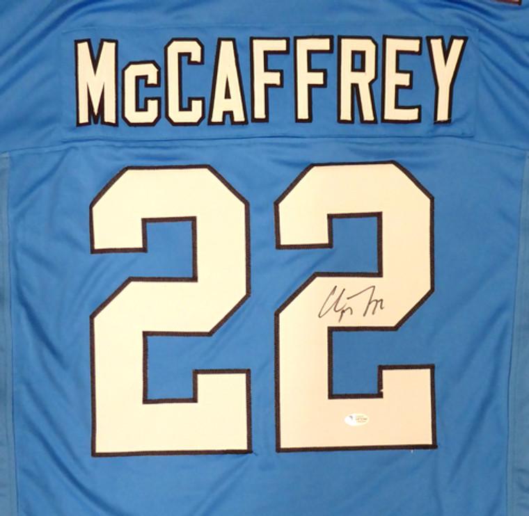 Christian McCaffrey Carolina Panthers Signed Blue Custom Jersey
