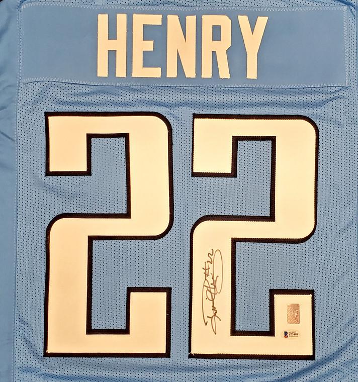Derrick Henry Tennessee Titans Signed Light Blue Custom Jersey