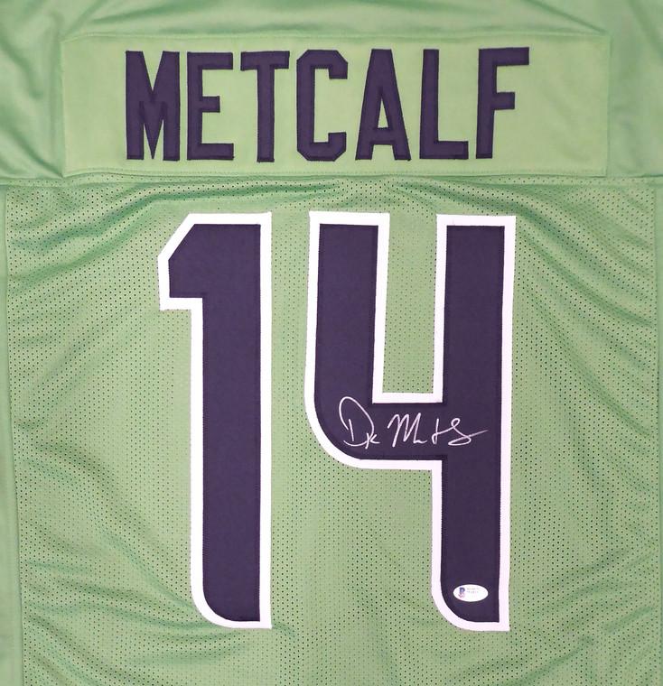DK Metcalf Seattle Seahawks Signed Green Custom Jersey