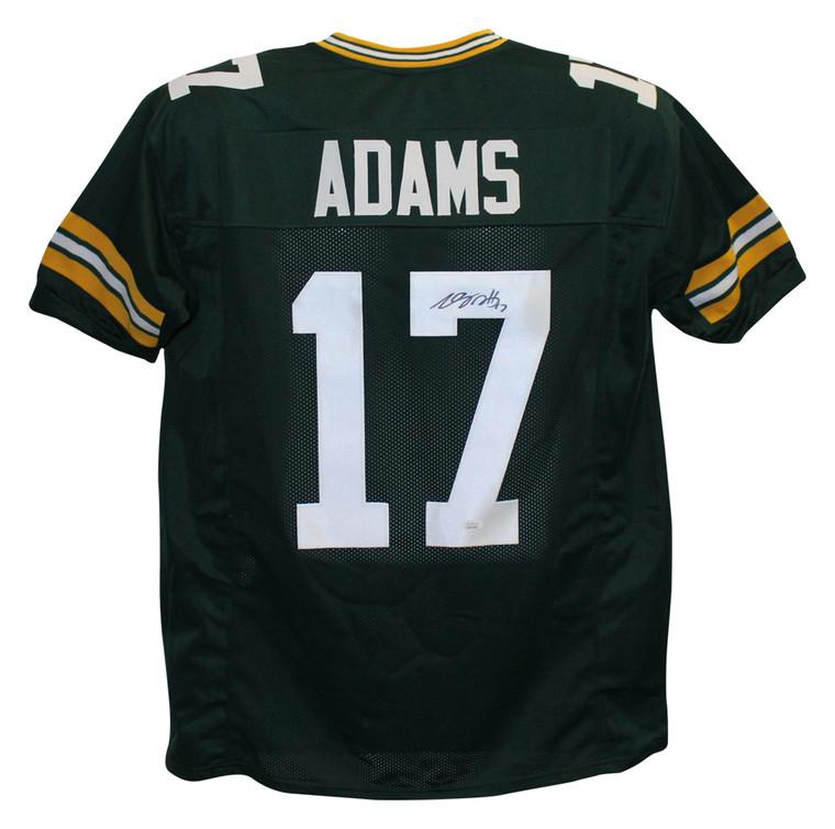 Davante Adams Green Bay Packers Autographed Custom Green Jersey