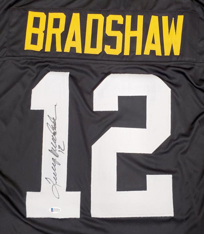 Terry Bradshaw Pittsburgh Steelers Signed Custom Black Jersey