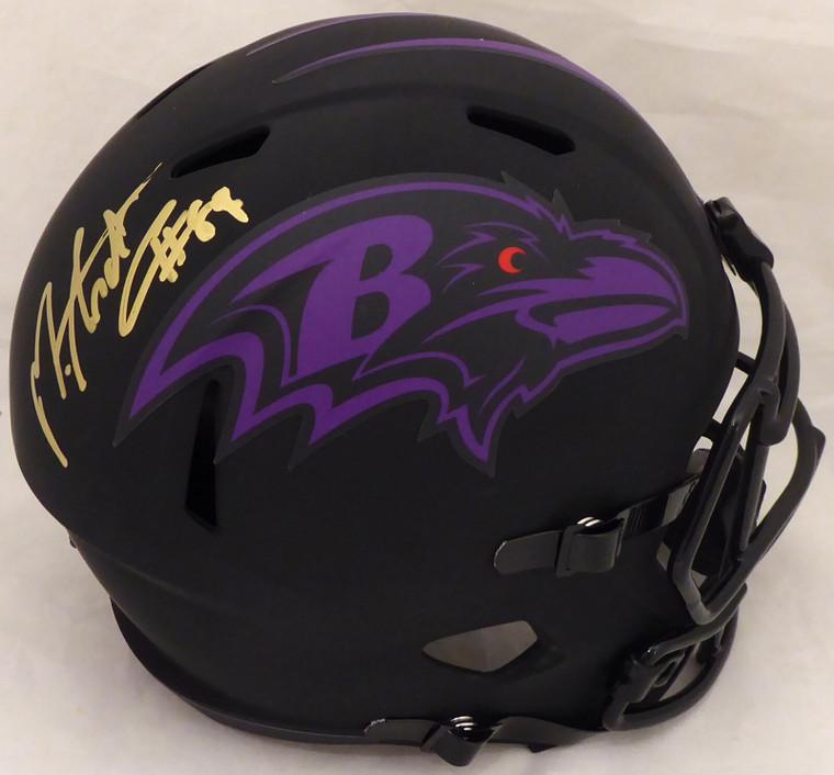 Mark Andrews Signed Baltimore Ravens Eclipse Black Full Size Replica Speed Helmet