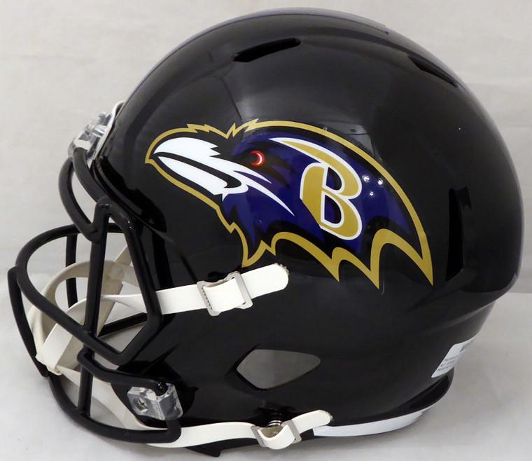Patrick Queen Signed Baltimore Ravens Black Full Size Replica Speed Helmet