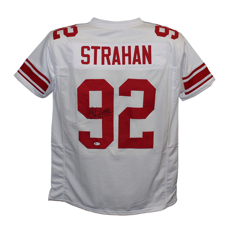 Michael Strahan New York Giants Autographed White Custom Jersey