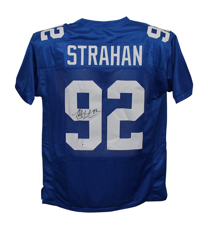 Michael Strahan New York Giants Autographed Blue Custom Jersey
