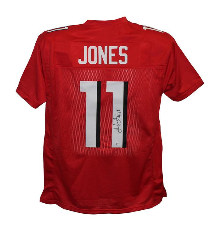 Julio Jones Atlanta Falcons Autographed Red XL Jersey