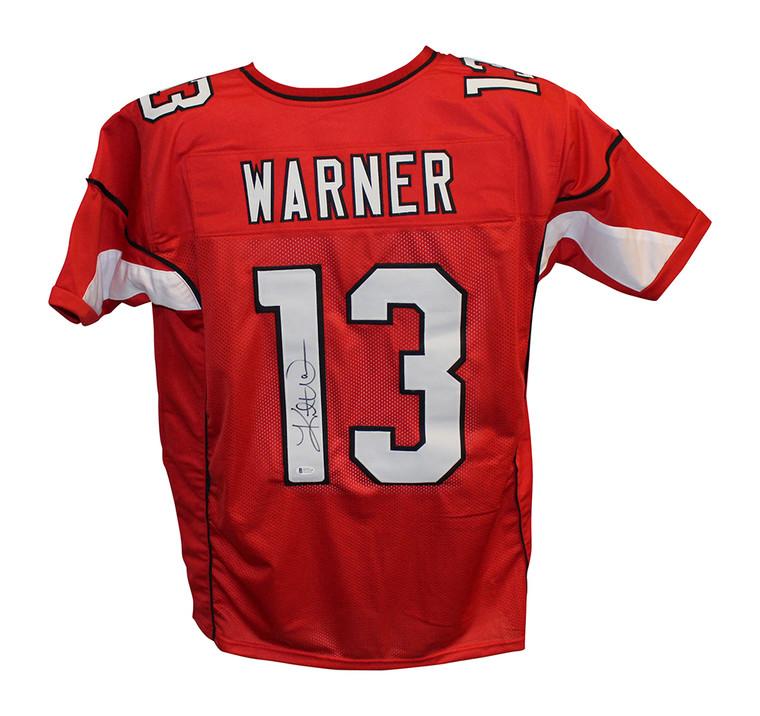 Kurt Warner Arizona Cardinals Autographed Red XL Custom Jersey