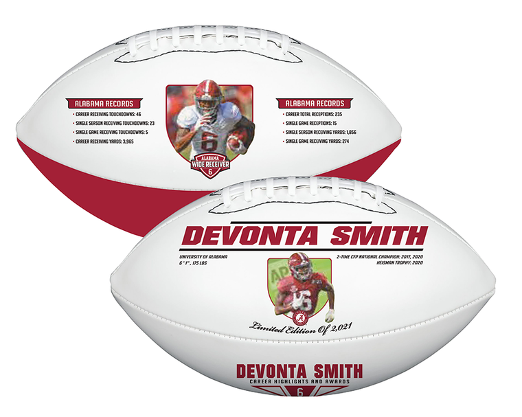 DeVonta Smith Alabama Crimson Tide Career/Record Exclusive Limited Edition Football
