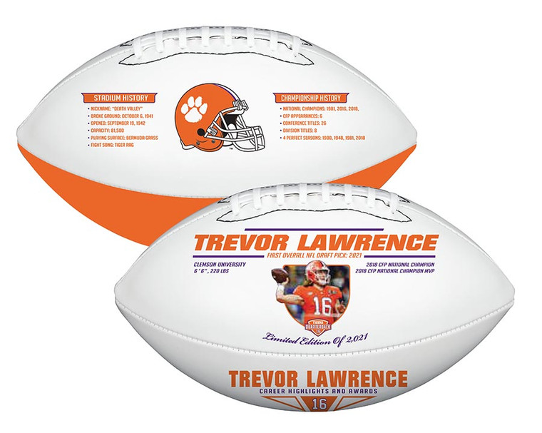 Trevor Lawrence Clemson Career Football Exclusive Limited Edition