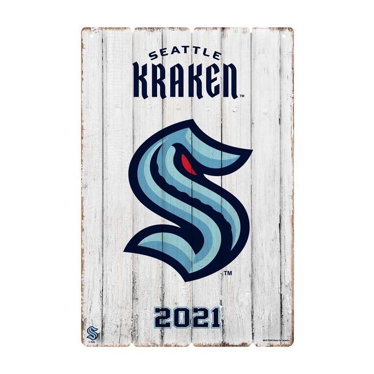 Seattle Kraken 24x16 Established Faux Wood Sign