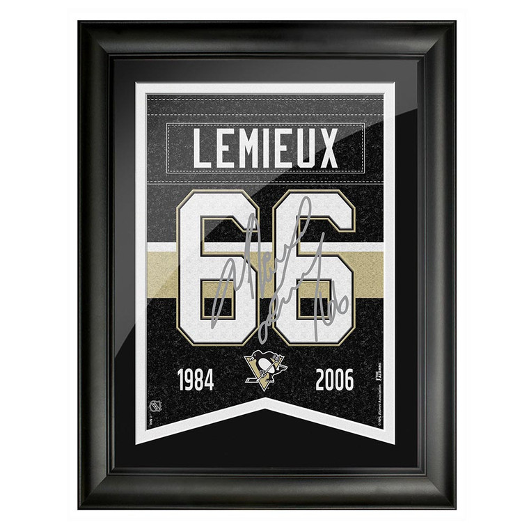 Pittsburgh Penguins Mario Lemieux Framed Player Number with Replica Autograph 12 x 16