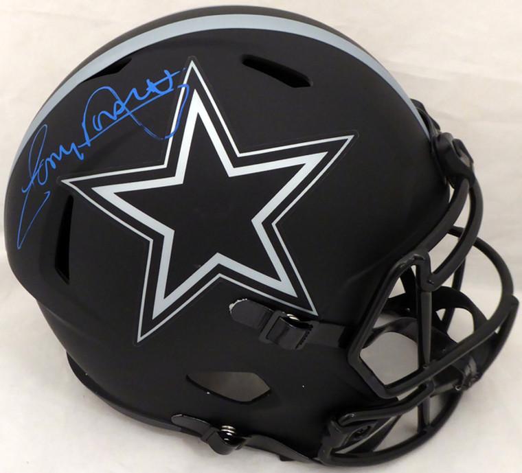 Tony Dorsett Dallas Cowboys Signed Eclipse Black FS Speed Replica Helmet