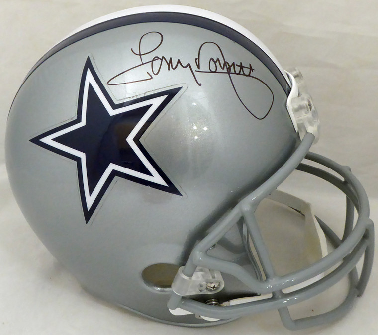 Tony Dorsett Dallas Cowboys Signed Silver FS Replica Helmet