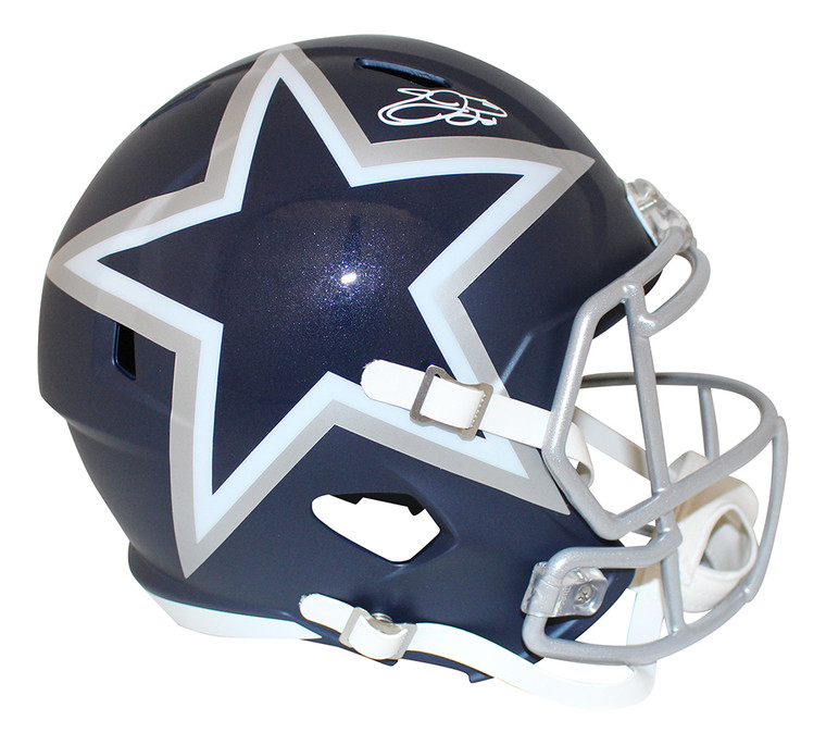 Emmitt Smith Dallas Cowboys Autographed F/S Blue AMP Helmet