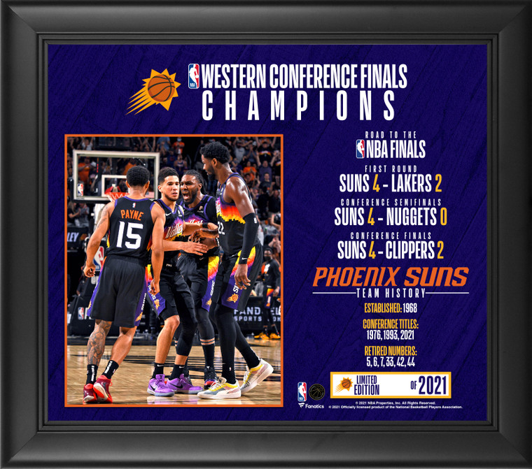 Phoenix Suns Western Conference Champions Limited Edition Exclusive Framed Collage