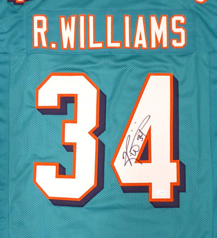 Ricky Williams Miami Dolphins Signed Teal Custom Jersey