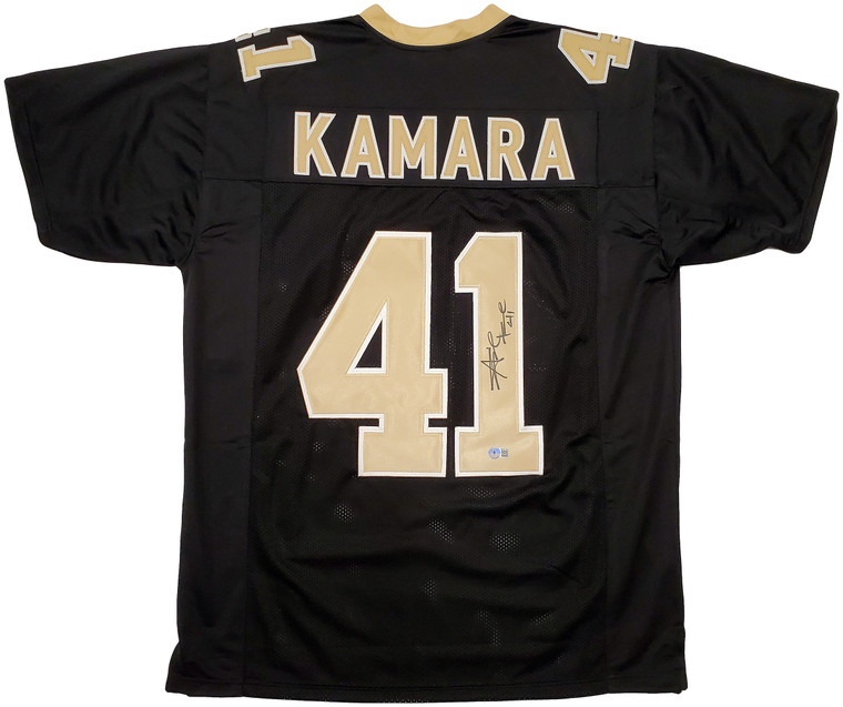 Alvin Kamara New Orleans Saints Signed Black Custom Jersey