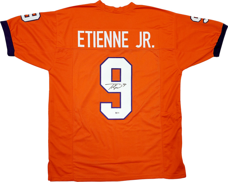 Travis Etienne Clemson Tigers Signed Orange Custom Jersey