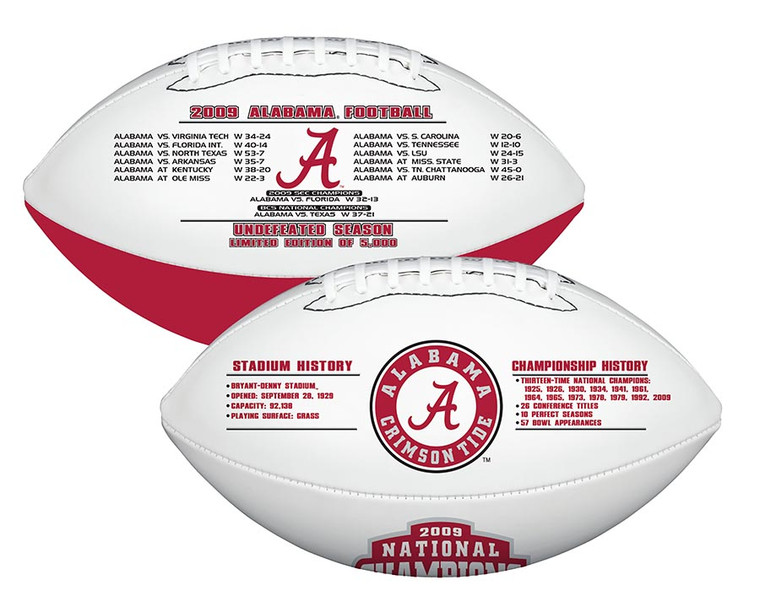 Alabama Crimson Tide 2009 National Champion Exclusive Limited Edition Football