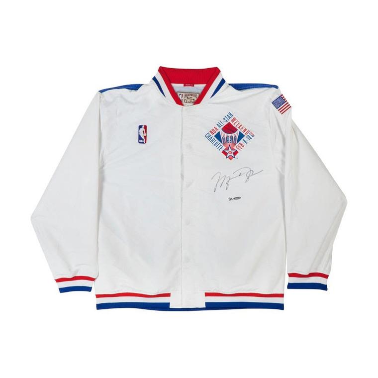 Michael Jordan Autographed Mitchell & Ness 1991 NBA All-Star Game Warmup Jacket