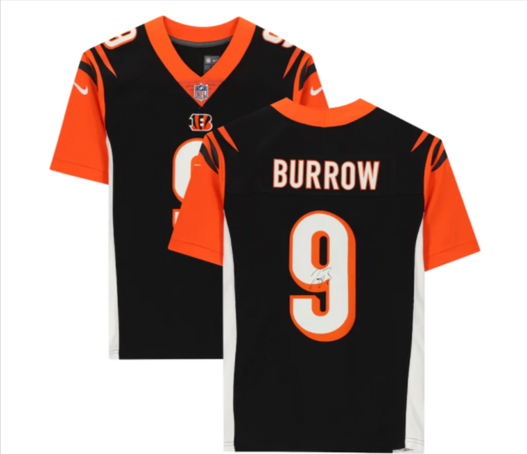 Joe Burrow Cincinnati Bengals Signed Black Nike Limited Jersey
