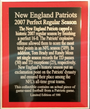 New England Patriots 2007 Perfect Season Duo Plaque (18x28)