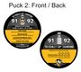2016 Stanley Cup Champions - Pittsburgh Penguins 4-Piece Puck Set
