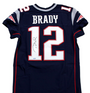 Tom Brady, New England Patriots, Autographed Blue Authentic Jersey