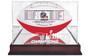 New England Patriots Super Bowl Logo Mahogany Display Case - Ball not included!
