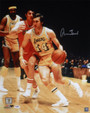 Jerry West Autographed Los Angeles Lakers 16x20 Photo (Dribbling) JSA