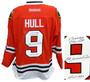 Bobby Hull Signed Chicago Blackhawks Red Reebok Premier Hockey Jersey w/The Golden Jet, HOF 1983