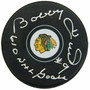 Bobby Hull Signed Chicago Blackhawks Logo Hockey Puck w/610 NHL Goals