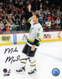 Mike Modano Signed Minnesota North Stars Waving To Crowd 8x10 Photo