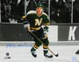 Mike Modano Signed Minnesota North Stars Action  16x20 Photo