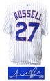 Addison Russell Signed and Framed Cubs White Pinstripe 2016 World Series Patch Majestic Jersey