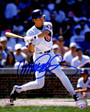 Ryne Sandberg Signed Chicago Cubs Swinging Action 8x10 Photo