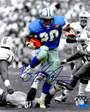 Barry Sanders Signed Detroit Lions Action vs Bucs Spotlight 8x10 Photo