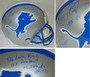 Barry Sanders Signed Lions Riddell Throwback Full-Size Replica Helmet w/7 Inscriptions