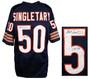 Mike Singletary Signed Navy Custom Jersey w/HOF 98