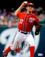 Stephen Strasburg Signed Washington Nationals Pitching Action 8x10 Photo